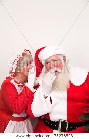 Mrs Claus Tells Santa A  Secret