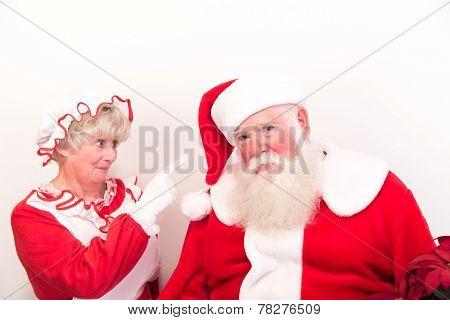 Santa Gets A Scolding