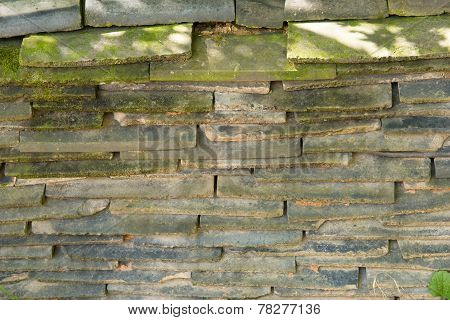 Piled Roof Tiles