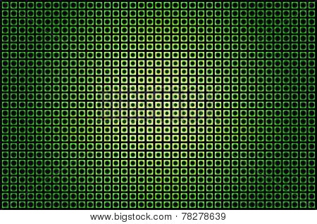 green glowing techno background