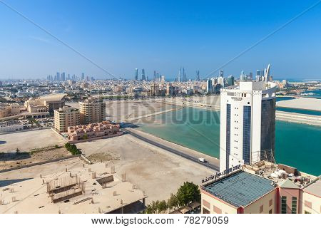 Bird View Of Manama City, The Capital Of Bahrain