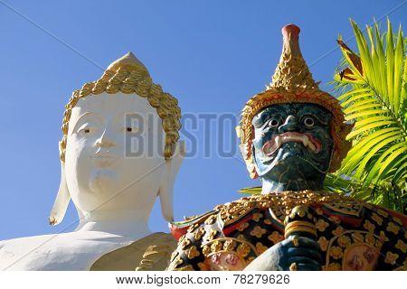 Sitting Buddha statue in Northern Thailand