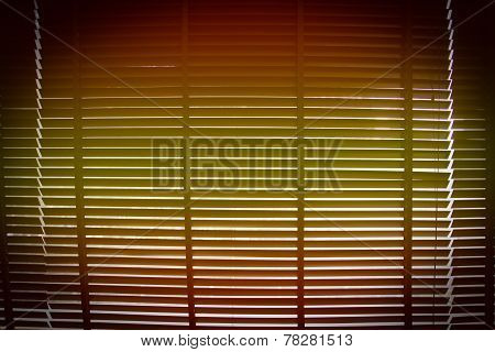 Orange And Yellow Gradient With Vignette On Horizontal Sun Blind