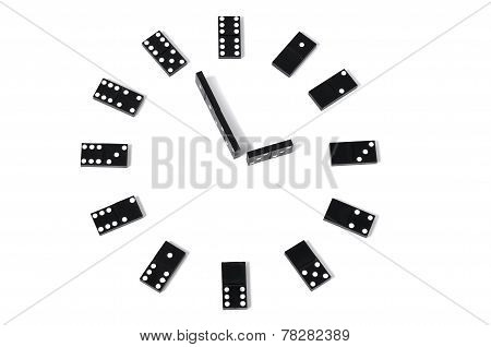 Close up dominoes clock