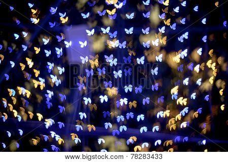 Multicolour Bokeh Butterfly Shape