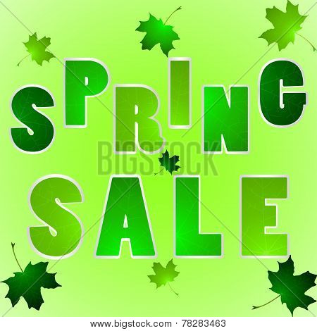 Illustration Of Words Spring Sale