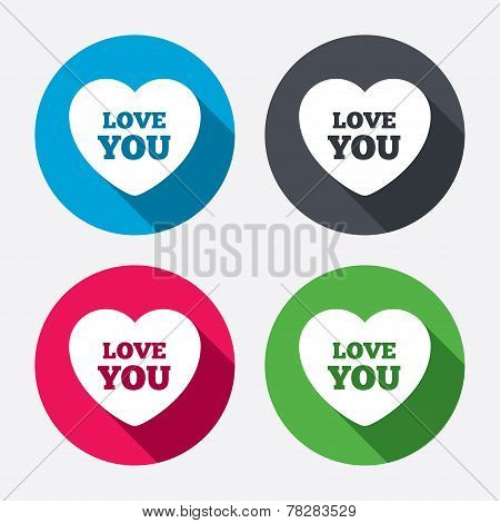 Heart sign icon. Love you symbol.