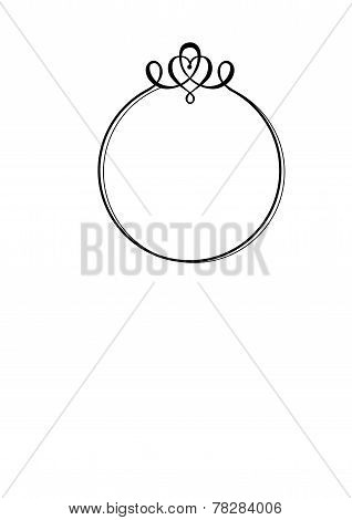 Decorative Round Frame With M...