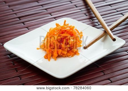 Small Serving Of Fermented Carrots