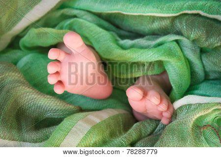 Feet newborn baby