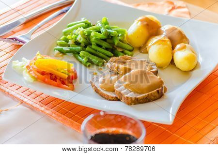 Lunch, Roast Pork