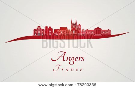 Angers Skyline In Red