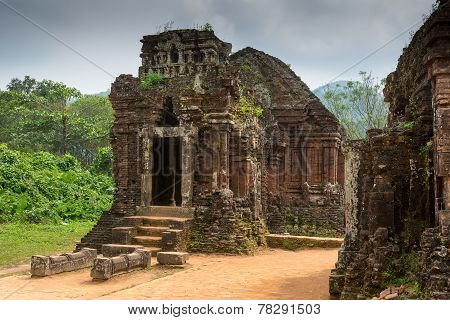 Hindu Temple At My Son, Vietnam Built During Champa Kingdom