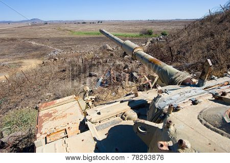 Old Tank At Golan Heights