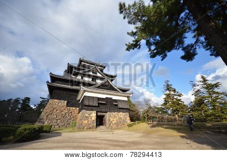 Tourist Visits Matsue Castle In Matsue
