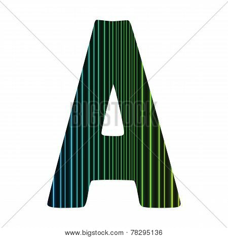 Neon Letter A