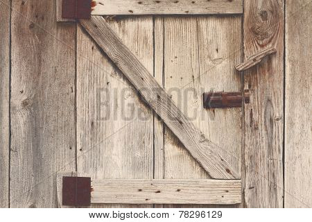 Wooden Barn Door Detail