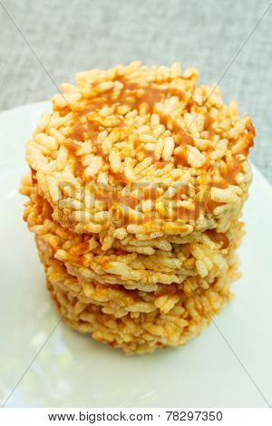 Puffed Rice With Sugar, Thai Snack.