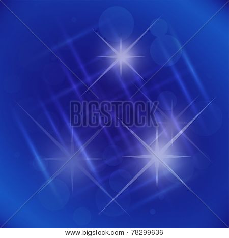 Abstract elegance blue background with star