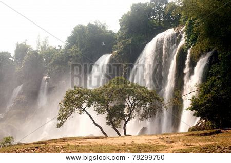 Ban Gioc Waterfall In Vietnam.