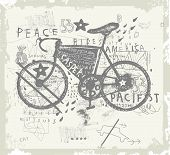 stock photo of bike path  - Symbolic image of sports bike on a gray background - JPG