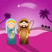 picture of nativity scene  - an illustration of Nativity scene for Christmas - JPG