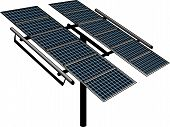 picture of generator  - An Isolated Solar Tracker Power Generator Structure - JPG