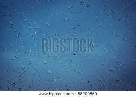 Glass With Rain Drops