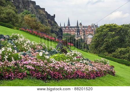 Flowers of Edinburgh castle