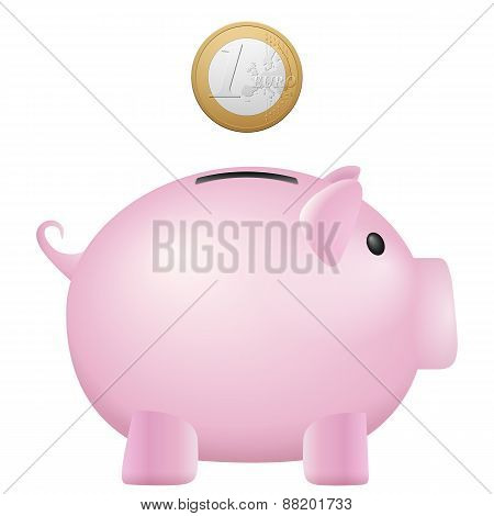 Piggy Bank One Euro