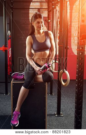 Attractive muscular woman