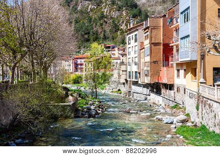 The Village Of Ribes De Freser In Catalonia