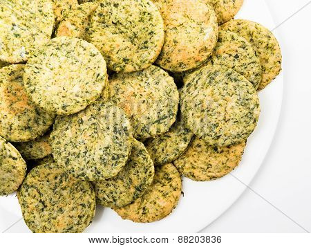 Homemade Biscuits With Spinach