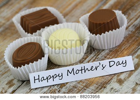 Happy Mother's Day card with chocolates