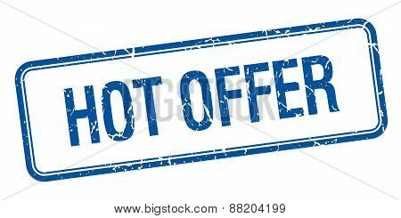 Hot Offer Blue Square Grungy Vintage Isolated Stamp