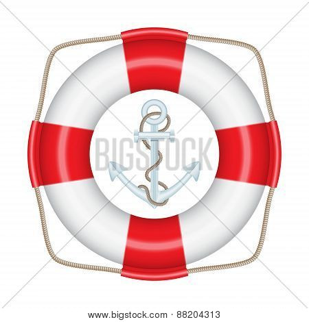 Lifebuoy, anchor