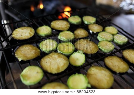Sliced Vegetable On The Grill