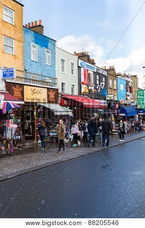 Shops And Buildings In Camden Town