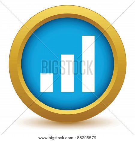 Gold graph icon