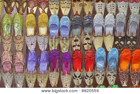 Beaded Indian shoes