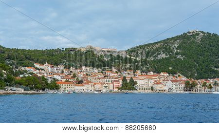 Hvar In Croatia, View From Sea