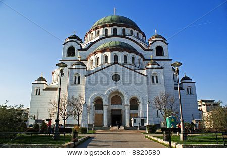Cathedral of Saint Sava and blue sky