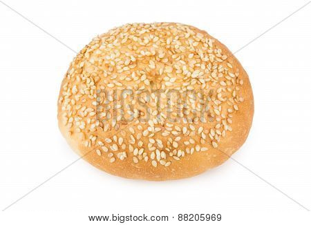 Appetizing Bun Sprinkled With Sesame Seeds
