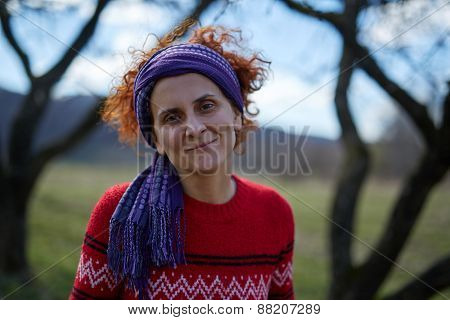 Peasant Woman Smiling Portrait
