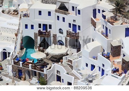 The Hotel In Santorini, Greece