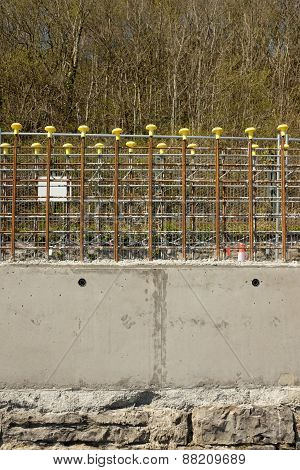 Concrete Wall Construction.