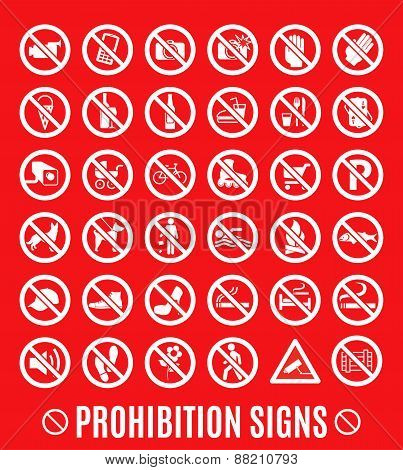 Prohibition set symbol.