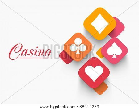 Stylish ace cards with for Casino.