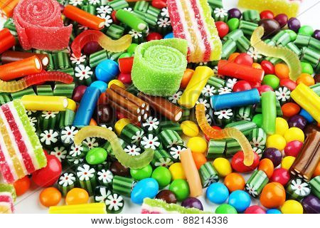 Colorful candies close-up