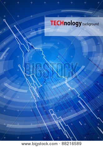 blue technology illustration - megapolis